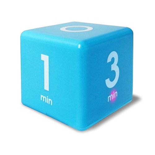 Price comparison product image The Miracle Cube Timer, 1, 3, 5 and 7 Minutes, for Time Management, Kitchen Timer, Kids Timer, Workout Timer, Blue