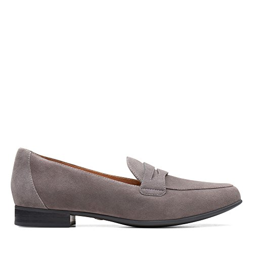 Clarks Women's Un Blush Go Loafers Grey (Dark Grey Sde) 0w9Mre