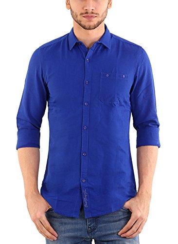 537a06a934 Shade 45 Men s Cotton Full Sleeve Royal Blue Color Plain Shirt(SHD45-00041-