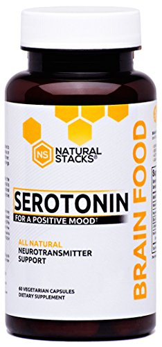 Brain Food Supplement - Natural Stacks Serotonin Brain Food (60 Capsules) - Promotes Healthy Serotonin Production - Formulated for Stress Relief - Made to Boost Mood and Energy