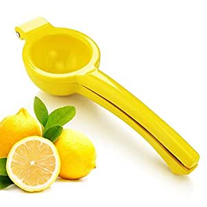 New Star Foodservice 42856 Enameled Aluminum Lemon Squeezer, Yellow