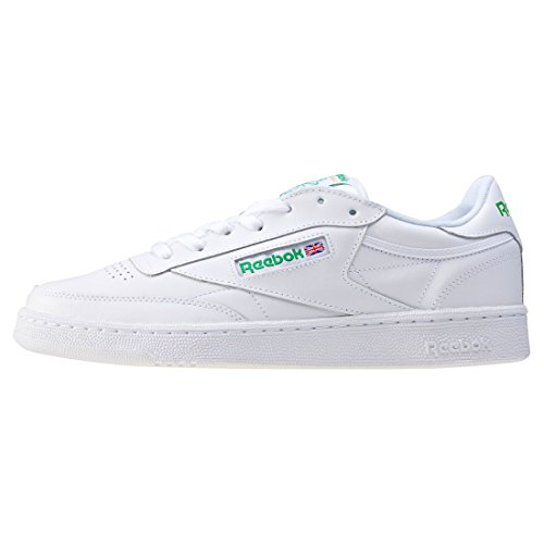 White Int Club C85 000 Blanc Homme Reebok Basses Green Baskets 10Yxwv