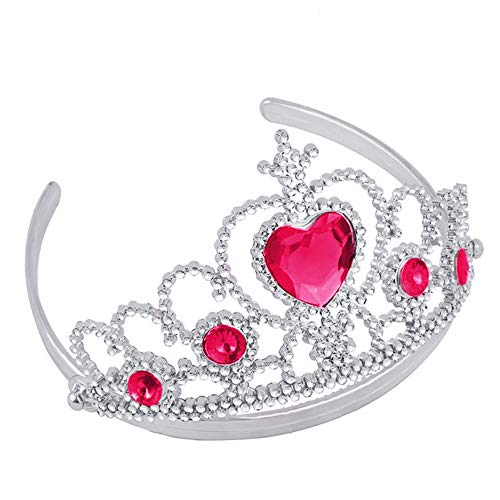 Loneflash Tiaras and Crowns,Girl Queen Princess Crystal Tiara for Women Ladies Girls Bridal Bride Princess Queen Birthday Wedding Pageant Prom Party Halloween Cosplay Holiday Party Gifts (Hot -