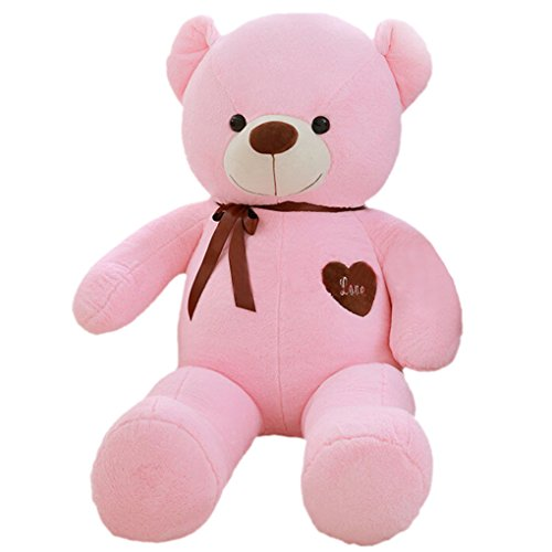 Beckoning Cat Costume (YXCSELL 3 FT 39 Inches Big Pink Teddy Bears Plush Stuffed Animal Toys I Love You Teddy Bear Gifts)