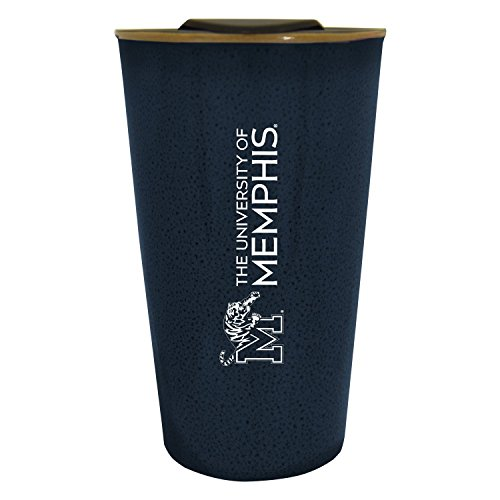 University of Memphis |16 oz. Ceramic Tumbler| Blue|Glazed Finish ()