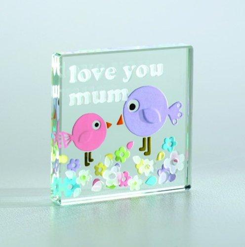 "Spaceform - Miniature Text Token ""Love You Mum Birds"" - 1096"