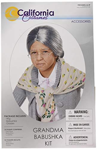 Children's Old Lady Costume (California Costumes Grandma Babushka Kit - Child,)