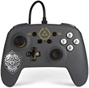 PowerA Enhanced Wired Controller for Nintendo Switch - Hylian Shield, Gamepad, Wired Video Game Controller, Ga
