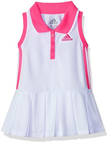 Adidas Girls Dress - adidas Baby Girls Active Polo Dress, White, 24M
