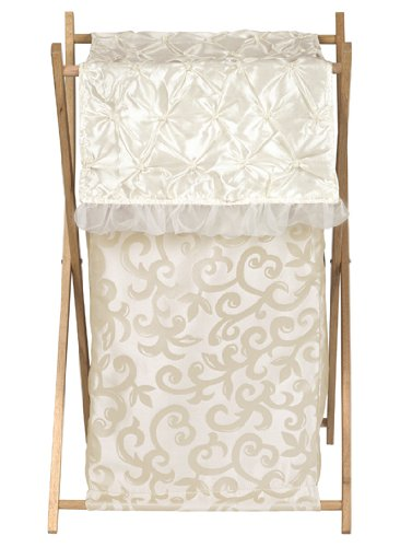 (Sweet Jojo Designs Baby/Kids Clothes Laundry Hamper for Champagne and Ivory Victoria Bedding)