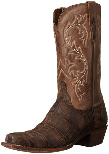 Lucchese Classics Men's Burke-ch Giant Allig/Cafe Riding Boot, Chocolate, 9 2E - Lucchese Classics Chocolate