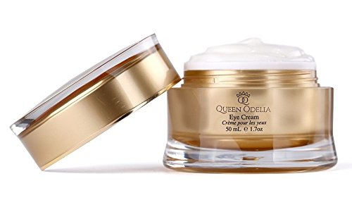 Queen Odelia Anti-Aging Eye Cream For Dark Circles- Rich in Cactus Oil & Dead Sea Minerals, VITAMIN E & Omega 6- 1.7 oz- 50 mL- Formulated to recharge, revitalize and intensively nourish the skin