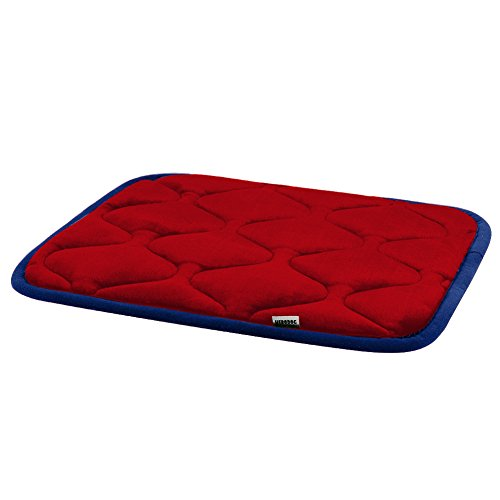 Dog Bed Mat Washable - Soft Fleece Crate Pad - Anti-slip Matress for Small Medium Large Pets (Red XS) by HeroDog