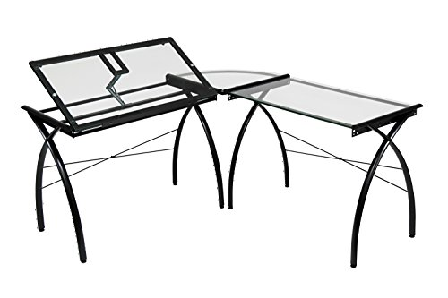 - Offex Home Office Futura LS WorkCenter with Tilt Black/Clear Glass