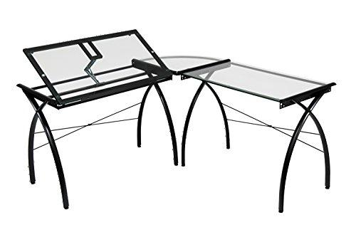 Ls Workcenter - Offex Home Office Futura LS WorkCenter with Tilt Black/Clear Glass