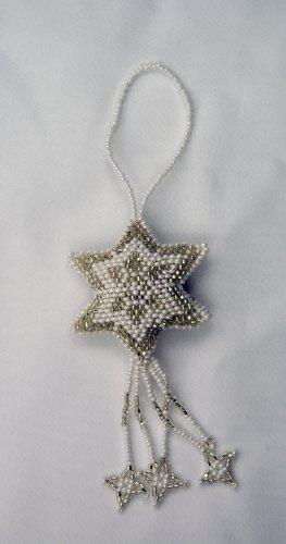 Handmade Beaded Star Ornament