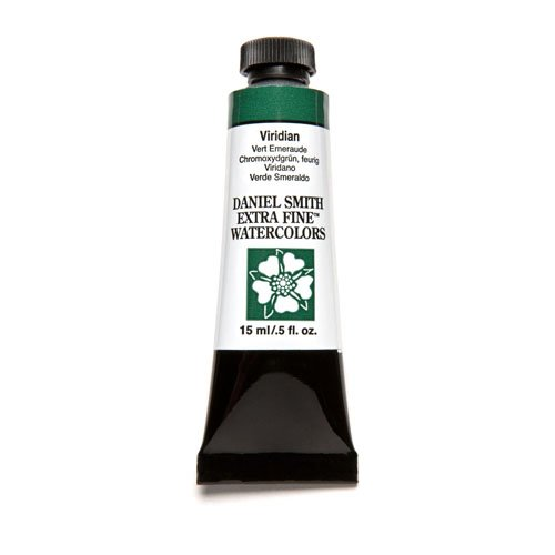 (DANIEL SMITH Extra Fine Watercolor 15ml Paint Tube, Viridian)