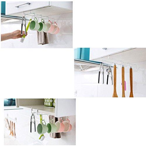 sunlightam under shelf cabinet cup mug glass bottle. Black Bedroom Furniture Sets. Home Design Ideas