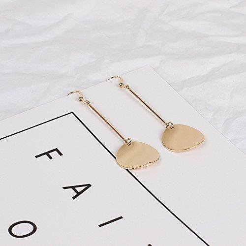 CHOA Gold Silver Glossy Round Pendant Dangle Earrings for Women Girls
