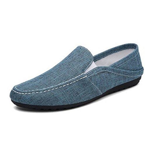 Transpirable Azul Plano Ocasional Al Ligeros ConduccióN De Resistentes Perezosas Desgaste Hombre Zapatos Verano Zapatillas Zapatos qtU64n