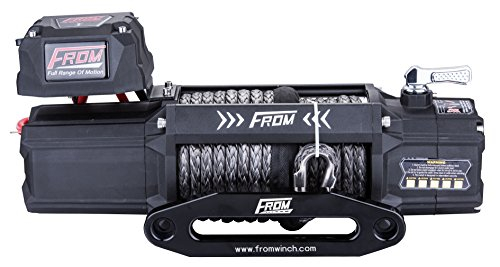 FROM ANT Series Electric Off Road Winch 9500lbs 5.5HP 12V for ATV/UTV/Jeep with Synthetic Rope FA9.5S by FROM (Image #1)
