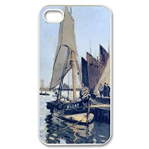 wugdiy Personalized Durable Case Cover for iPhone 4,4S with Brand New Design Claude Monet Art