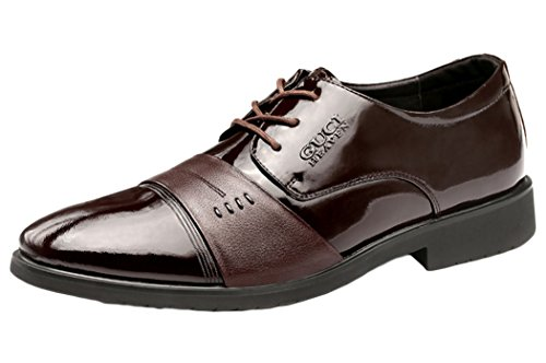Guciheaven Mens 2015 New British Style Low Top Leather Business Casual Shoes(9.5 D(M)US, Tan)