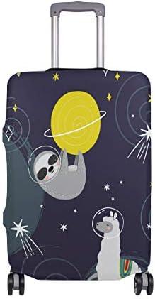 (ソレソレ)スーツケースカバー 防水 伸縮素材 キャリーカバー ラゲッジカバー 怠け者 宇宙 黒 ブラック アルパカ 亀 かわいい 可愛い おしゃれ 防塵 旅行 出張 便利 S M L XLサイズ