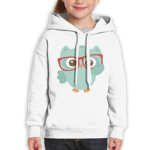 Teenagers Lovely Green Owl With Glasses Teen Hoodies White Pullover Hooded Youngsters Sweatshirt With Boys - Khalifa Glasses Wiz White