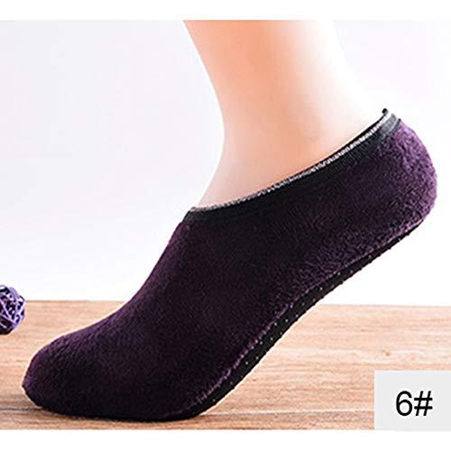 10680e079174 Moocare Kids Non-Slip Lined Home Slipper Socks with Grippers Warm Soft  Fluffy Fuzzy Socks