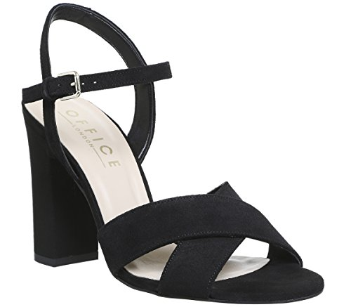 Suede Part Sandals Office Hazel Two Black wSZZ7X