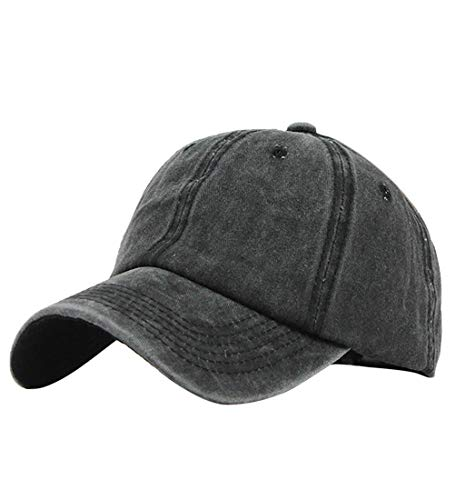 (Pausseo Baseball Hat, Messy High Bun Ponytail Trucker Plain Baseball Visor Cap Adjustable Hat)