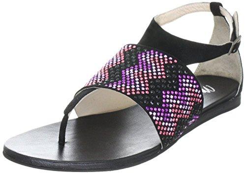 q01964 cuir sixty noir paM en sandales Miss femme Noir qvETHfHU