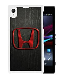 Sony Xperia Z1 Honda Logo White Screen Phone Case Personalized and Beautiful Design