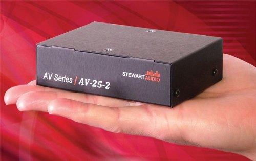 Stewart Audio - Stewart Audio AV-25-2 2-Channel Subcompact Amp - 25W x 2 at 8 Ohm-by Stewart Audio
