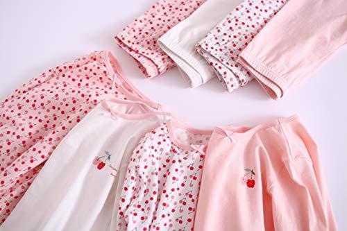 'Abclothing Set chiaro 36 termico 88704 ragazze bambini per 24m rosa cotone in modelli per 13t e bambini Pigiama A0Ycq0