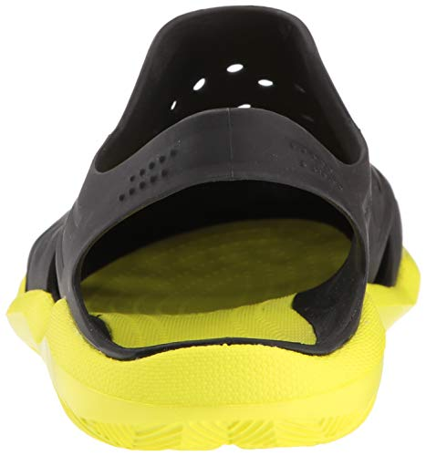 crocs Men's Swiftwater Wave M Flat,black/tennis ball green,4 M US by Crocs (Image #2)