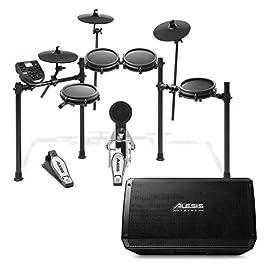Alesis Nitro Mesh Kit + Strike Amp 12 | 8-Piece All-Mesh Electronic Drum Kit Bundled with 2000-Watt Ultra-Portable…