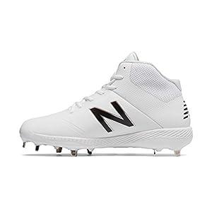 New Balance Men's M4040v4 Molded Baseball Shoe, White, 10 D US