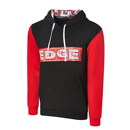 WWE Edge Rated R Superstar Varsity Hoodie Black/Red 3XL by WWE Authentic Wear