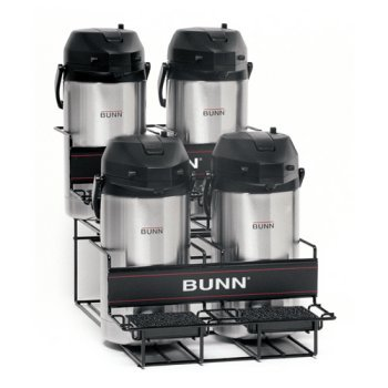 BUNN 35728 2 Upper and Lower Universal Airpot Rack, Stainless ()