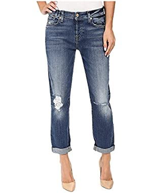 7 For All Mankind Women's Josefina w/ Knee Holes in