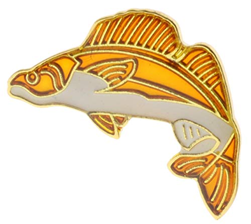 (Sujak Military Items Walleye Fish Hat or Lapel Pin AK275)