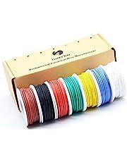 0,82 mm² - 0,05 mm² 18awg-30awg elektronica elektrische draad kit strengen siliconen leidingen draad vertind koperen kabel 7 kleuren