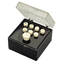 Martin Bridge and End Pin Set, White with Pearl Inlay