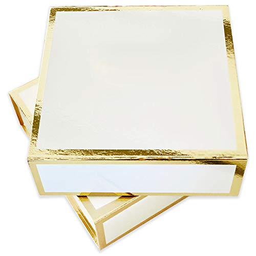 - Bridesmaid Proposal Box with Gold Edge | Set of 3 Empty Boxes | DIY Will You Be My Bridesmaid Gift Box Large White and Gold
