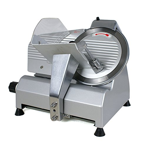 F2C Professional Stainless Steel Semi-Auto Meat Slicer Electric Food Slicer, Deli/Veggies, 240W 530 RPM (Model #01) - Meat Warmer