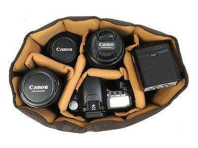 Ciesta Flexible Camera Insert Partition for DSLR SLR Lens (Brown / Large)