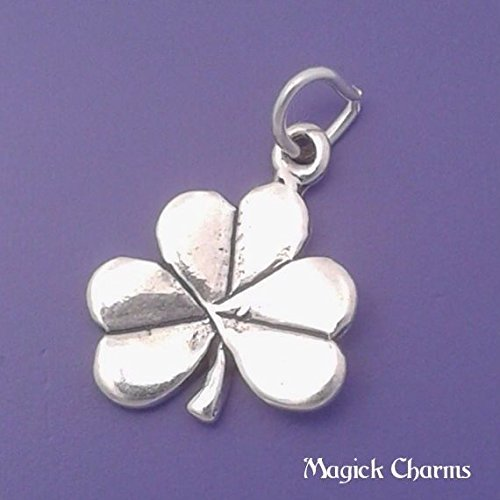 Clover Charm 925 Sterling Silver Lucky Irish Shamrock Pendant Jewelry Making Supply, Pendant, Charms, Bracelet, DIY Crafting by Wholesale Charms