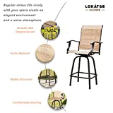 LOKATSE HOME 3 Pcs High Swivel Stools 2 Tall Chairs